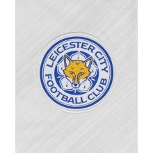 Детская гостевая футбольная форма Лестер Сити 2020-2021 футболка герб клуба