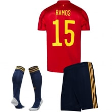 Детская домашняя форма Испании Серхио Рамос на ЕВРО 2020-21