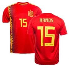 Футболка сборной Испании на ЧМ 2018 Серхио Рамос