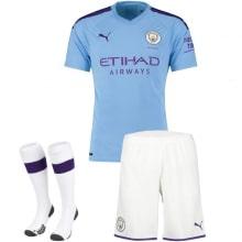 Взрослая домашняя форма Манчестер Сити 2019-2020 футболка шорты и гетры