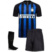 Комплект взрослой домашней формы Интер 2018-2019 футболка шорты и гетры