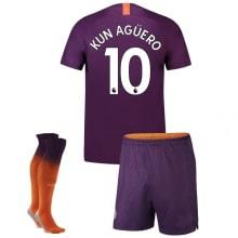 Детская третья футбольная форма Агуэро 2018-2019
