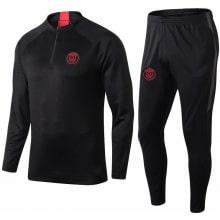 Детский черный тренировочный костюм ПСЖ 19-20