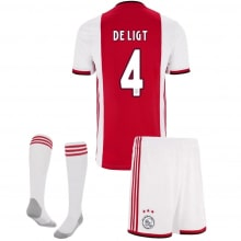 Детская домашняя футбольная форма Де Лигт 2019-2020 футболка шорты и гетры