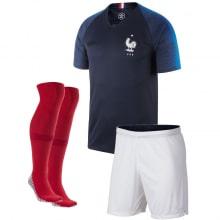 Детская домашняя футбольная форма Франции на ЧМ 2018