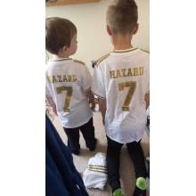 Детский комплект домашней формы Реал Мадрид 2019-2020 HAZARD 7