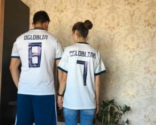 Гостевая игровая футболка сборной России по футболу на чемпионат мира 2018 года