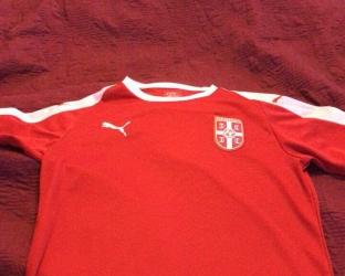Домашняя футболка сборной сербии по футболу на Чемпионат Мира 2018