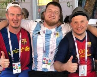 Футболка сборной Аргентины по футболу на чемпионат мира 2018 года
