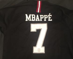 Игровая футболка JORDAN ПСЖ 2018-2019 MBAPPE номер 7