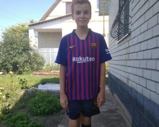 Детская домашняя футбольная форма Барселона 2018-2019 футболка, шорты и гетры