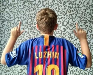 Детская домашняя футбольная форма Барселона 2018-2019 футболка