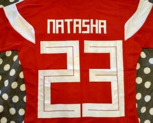 Женская футболка сборной России по футболу ЧМ 2018