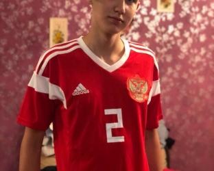 Домашняя игровая футболка сборной России по футболу на чемпионат мира 2018 года