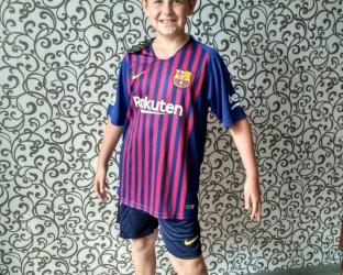 Детская домашняя футбольная форма Барселона 2018-2019