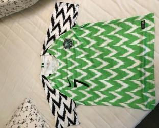 Домашняя игровая футболка сборной Нигерии по футболу на чемпионат мира 2018