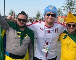 Гостевая игровая футболка сборной Сербии по футболу на чемпионат мира 2018 года