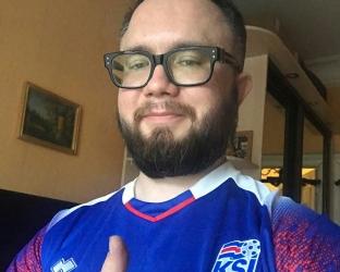 Футболка сборной Исландии по футболу ЧМ 2018