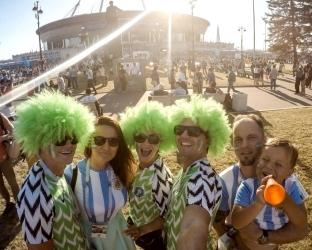 Футбольная форма Аргентины и Нигерии на Чемпионат Мира 2018