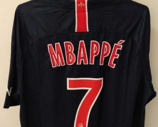 Домашняя игровая футболка ПСЖ 2018-2019 сезона MBAPPE номер 7