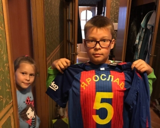 Детская футбольная форма Барселоны с нанесением фамилии и номера