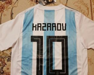 Детская футболка Аргентины с нанесением фамилии